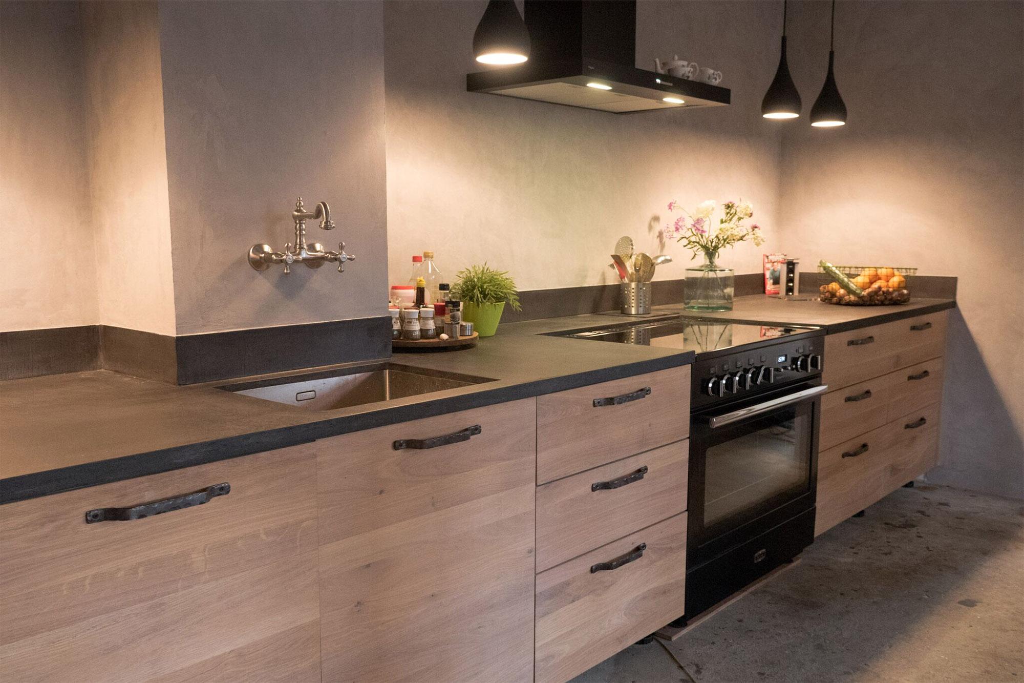Drie Zones Keuken : Keukens gerrit met hout