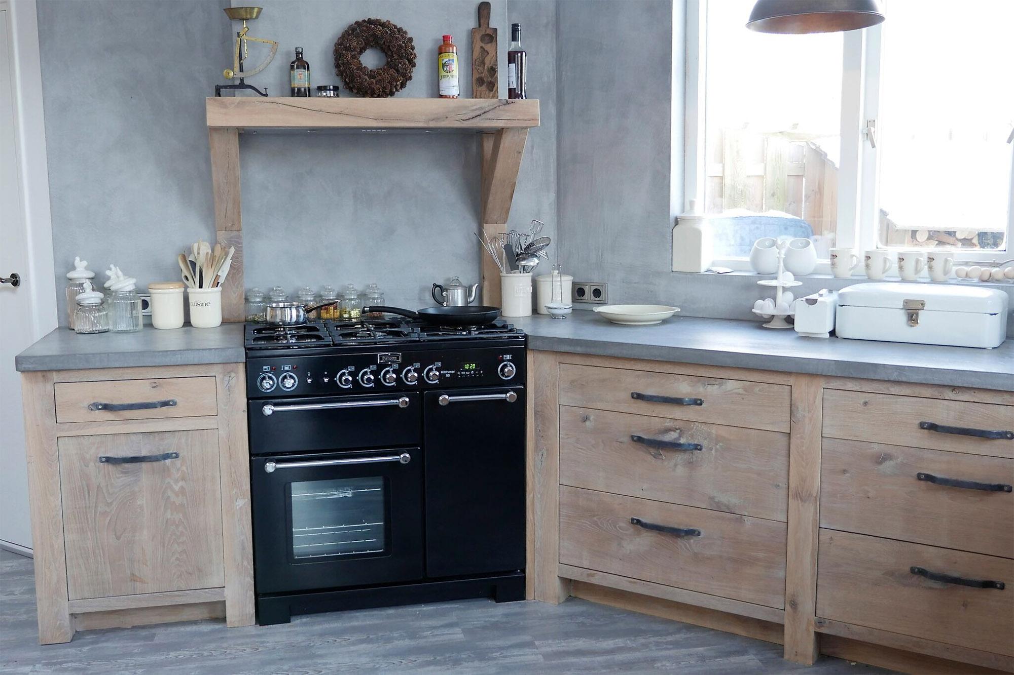 Keuken Eiken Houten : Keukens gerrit met hout